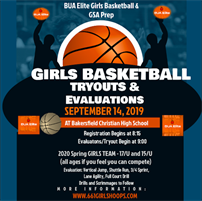 BUA Elite Tryout/Evaluations