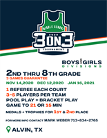 Middle School 3 on 3 Tournament