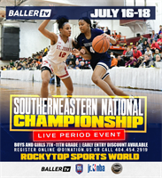 Ballertv presents Southeastern National Championship@ Rocktop Sports World !!!