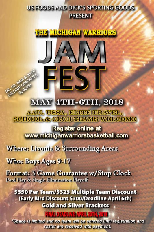 2018 Michigan Warriors JamFest