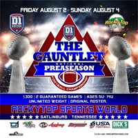 Always Live: Rocky Top present The Gauntlet Preseason Youth Football Championships