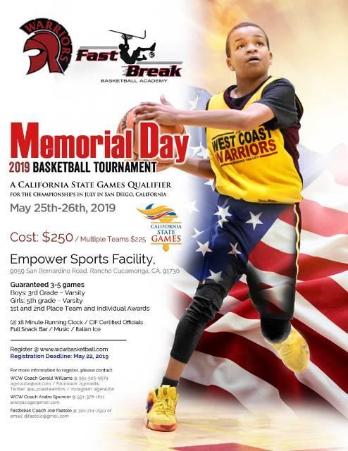 2019 Memorial Day Classic / California State Games Qualifier