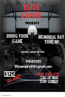 Bring your Game Memorial Day Tune-Up