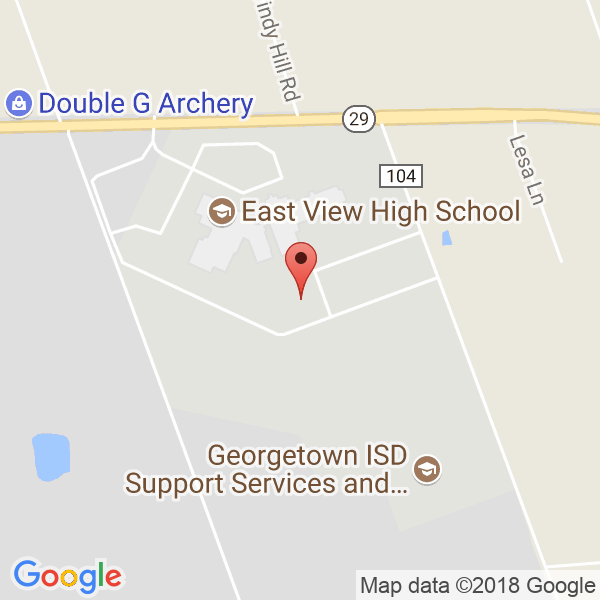 East View High and Georgetown HS Map