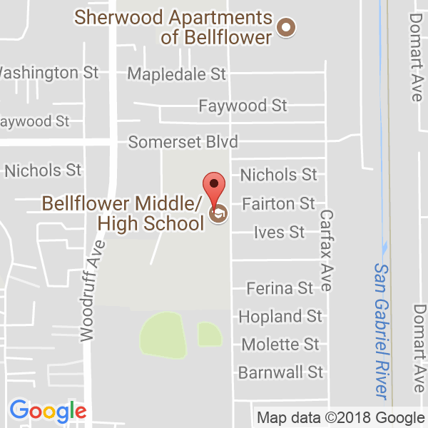 Bellflower High School Map