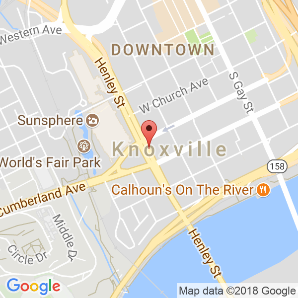 various gyms in Knoxville and surrounding areas Map