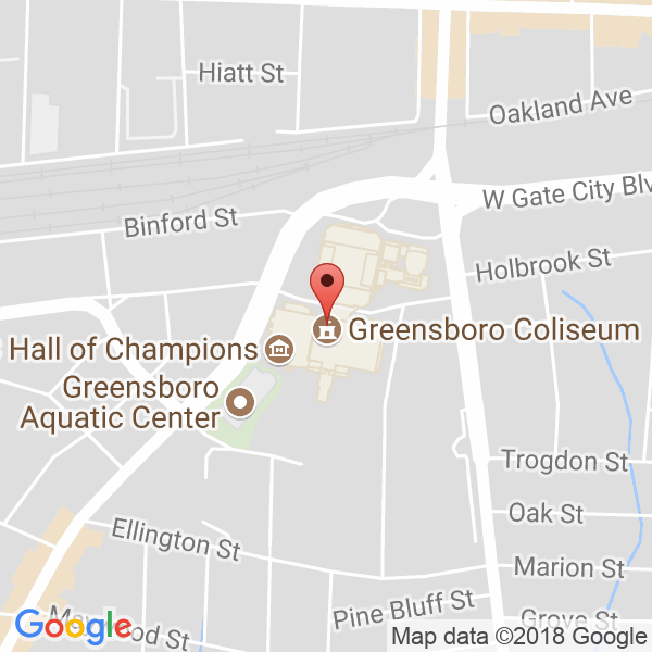 Greensboro Coliseum Map