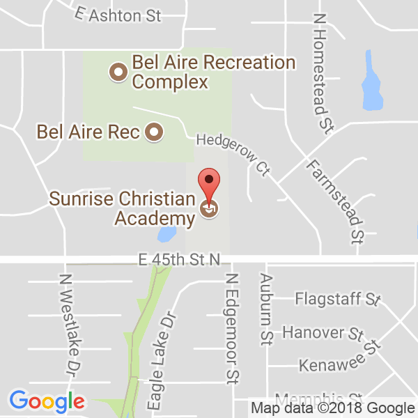 Sunrise Christian Academy Map