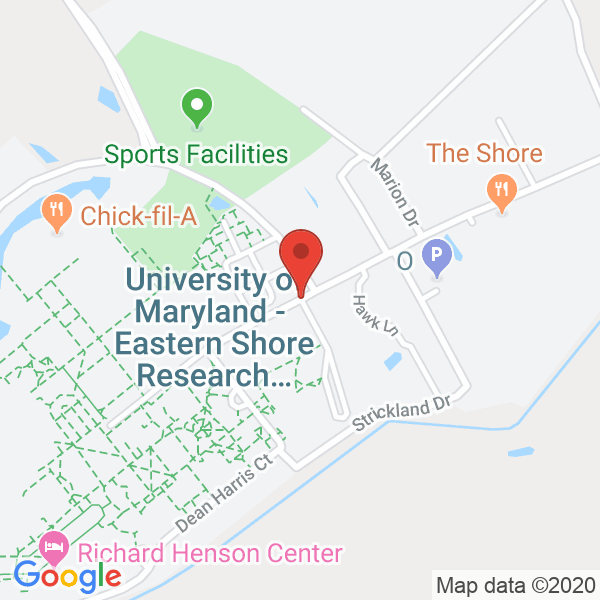 University of Maryland Eastern Shore, Worcester County Recreation Center Map