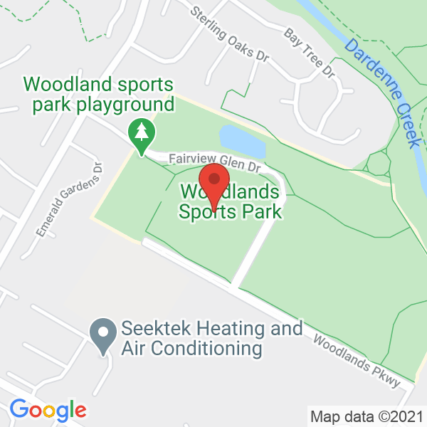 Woodlands Sports Park Map