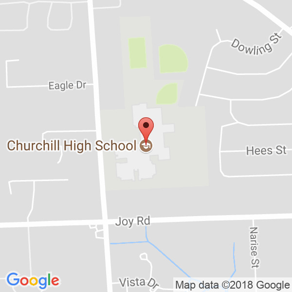 Livonia Churchill High School Map
