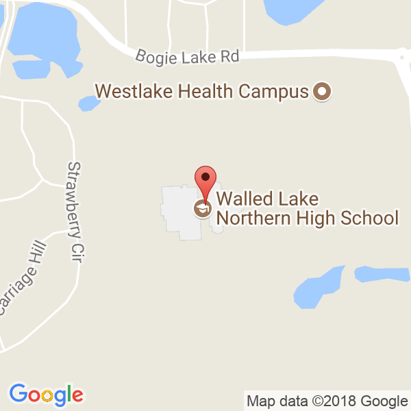 Walled Lake Northern HS Map