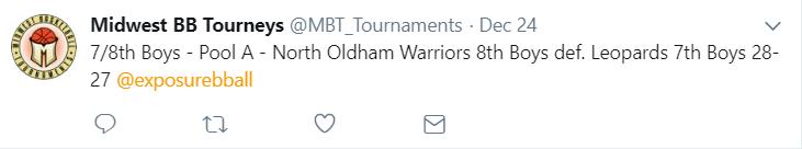 Final Score Tweet